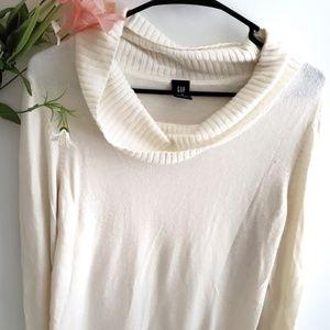 Gap Longsleeve Cowlneck Sweater White